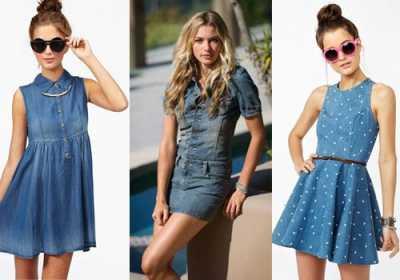 Мода и стиль в платье из джинсы