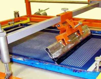 Печать методом шелкографии