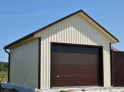 Отделка гаража листовым материалом